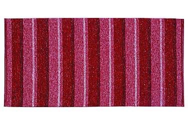 Life tæppe mix 70x260 PVC / bomuld / polyester rød