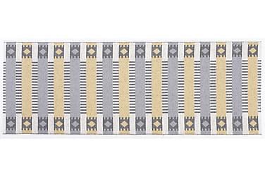 Märta Plastiktæppe 150x200 Vendbar PVC grå / gul