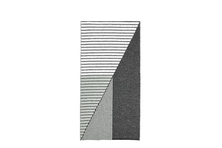 Stripe Plastiktæppe  150x210 Vendbar PVC Sort / Grøn - Boligtilbehør - Tæpper - Plasttæpper