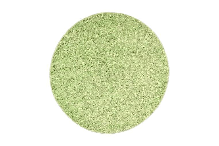 shaggy gulvtæppe 160 cm grøn - Boligtilbehør - Tæpper - Runde tæpper