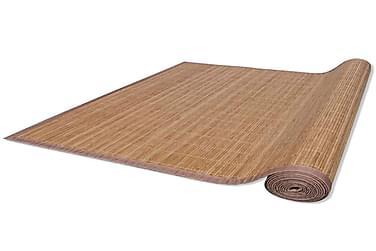 Bambustæppe 160 X 230 Cm Brun