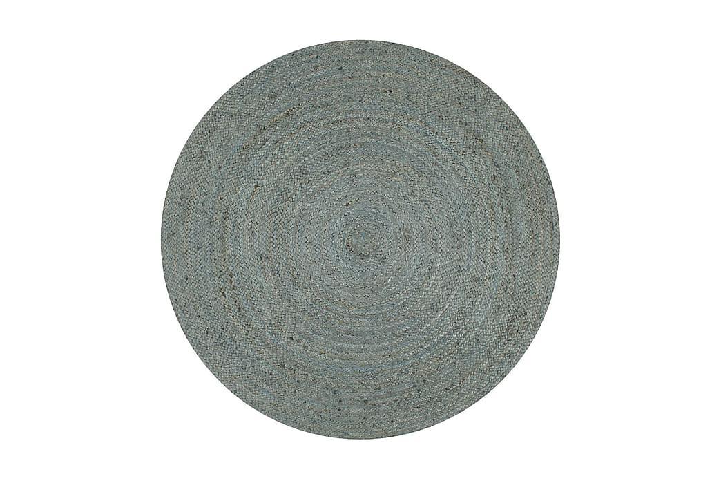 håndlavet tæppe jute rund 120 cm olivengrøn - Grøn - Boligtilbehør - Tæpper - Sisaltæpper