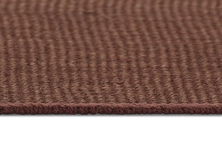Jutetæppe Med Latexunderside 70 X 130 Cm Mørkebrun - Brun - Boligtilbehør - Tæpper - Sisaltæpper