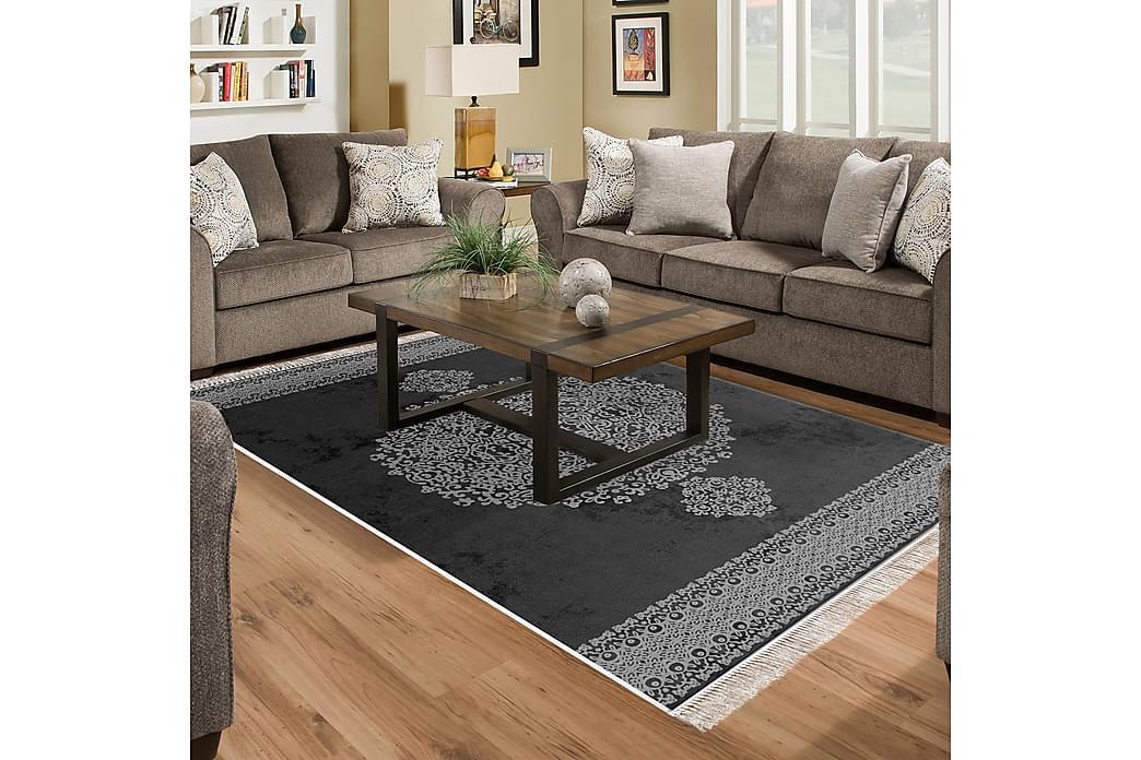 Alanur Home Tæppe 80x300 cm - Sort/Grå - Boligtilbehør - Tæpper - Små tæpper