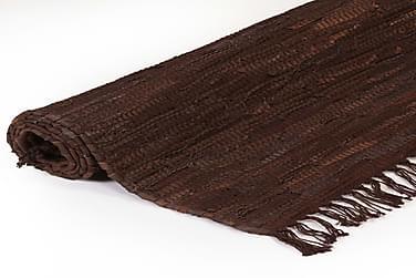 Håndvævet Chindi-Tæppe Læder 120 X 170 Cm Brun