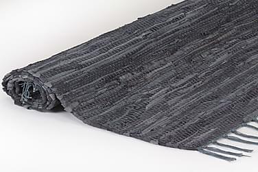 Håndvævet Chindi-Tæppe Læder 80 X 160 Cm Grå