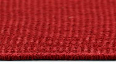 Jutetæppe Med Latexunderside 70 X 130 Cm Rød