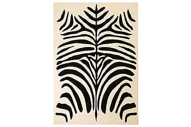Moderne Tæppe Zebradesign 80 X 150 Cm Beige/Sort