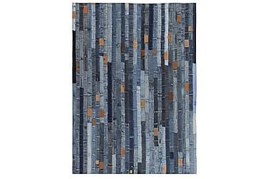 Tæppe Jeans-Taljebånd Patchwork 160 X 230 Cm Denim Blå