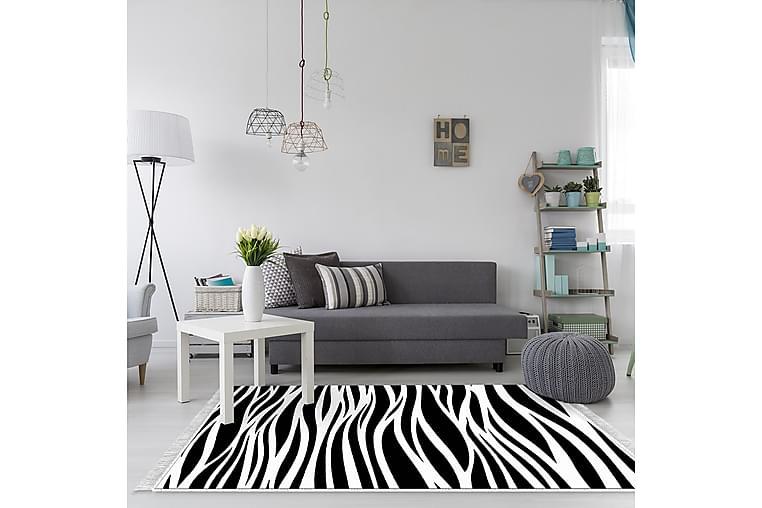 Alanur Home Tæppe 180x280 cm - Sort/Hvid - Boligtilbehør - Tæpper - Store tæpper