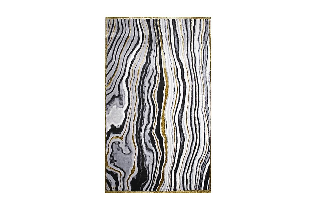 Atworthe Tæppe 200x290 cm - Hvid/Sort/Grå/Guld - Boligtilbehør - Tæpper - Store tæpper
