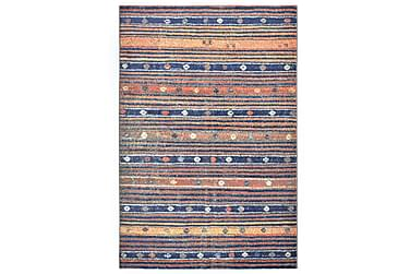 gulvtæppe 160 x 230 cm PP blå og orange