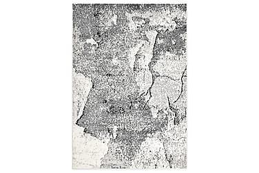 gulvtæppe 160 x 230 cm PP grå