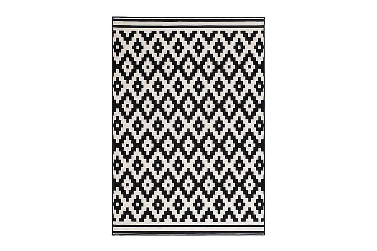 Thuntor Sit Tæppe 160x230 cm Sort/Hvid - D-Sign - Boligtilbehør - Tæpper - Store tæpper