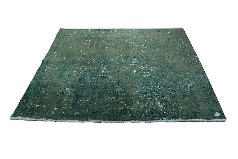 Vintage håndknyttet Tæppe Uld Grøn 205x220cm - Boligtilbehør - Tæpper - Uldtæppe