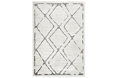 gulvtæppe 80 x 150 cm PP cremefarvet og grå