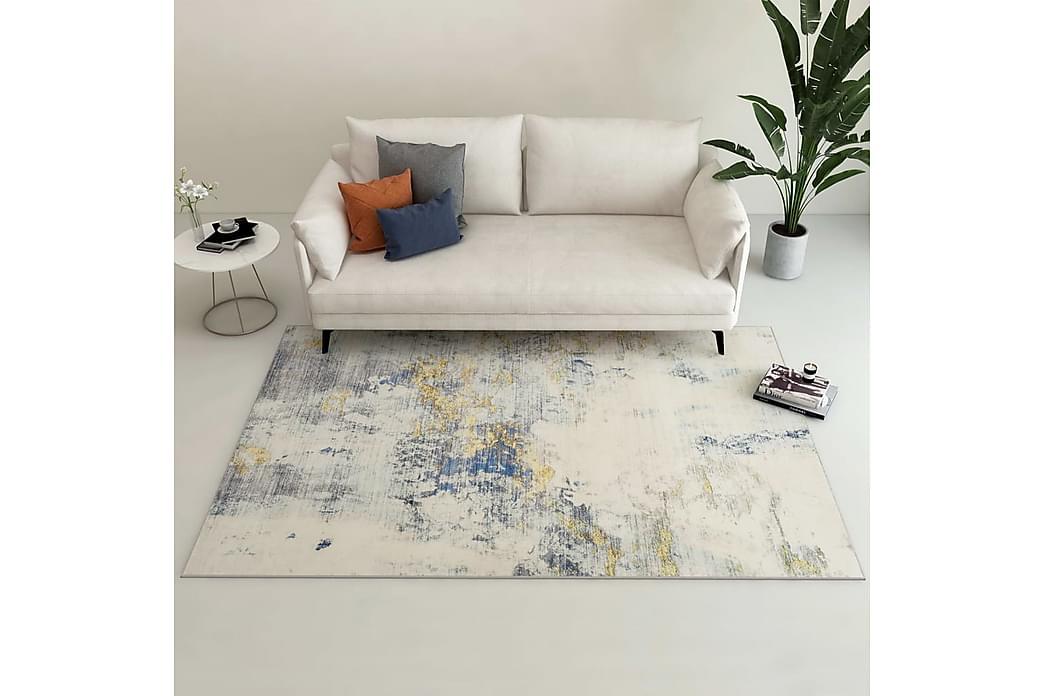Gulvtæppe med tryk 120 x 170 cm polyester flerfarvet - Flerfarvet - Boligtilbehør - Tæpper