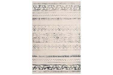 Gulvtæppe med tryk 140 x 200 cm polyester beige