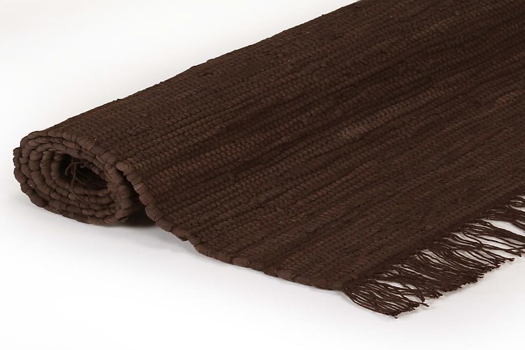 Håndvævet Chindi-Tæppe Bomuld 160 X 230 Cm Brun - Brun - Boligtilbehør - Tæpper