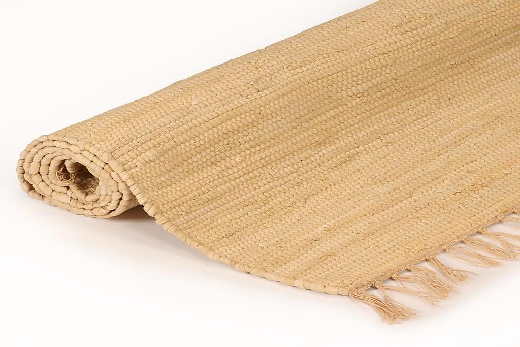 Håndvævet Chindi-Tæppe Bomuld 80 X 160 Cm Beige - Beige - Boligtilbehør - Tæpper