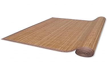 Rektangulært Bambustæppe 80 X 200 Cm Brun