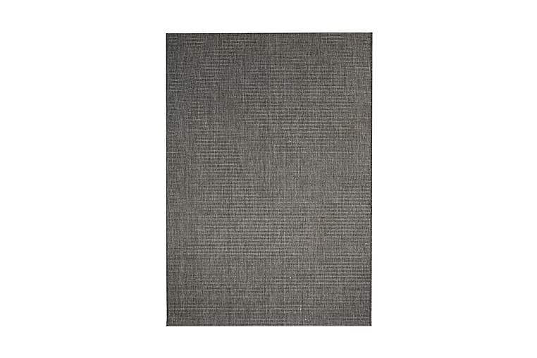 tæppe sisallook indendørs/udendørs 120 x 170 cm mørkegrå - Grå - Boligtilbehør - Tæpper