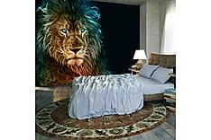 Fototapet abstrakt Løve 200x140