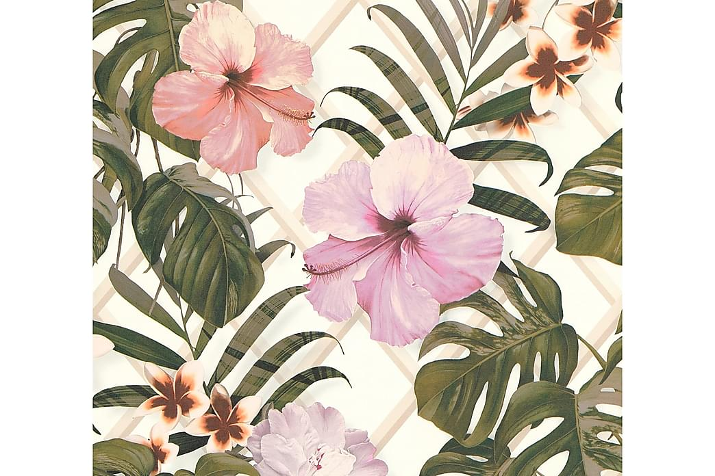AS Creation Floral Wallpaper Dream Again Nonwoven Grøn - AS Creation - Boligtilbehør - Tapeter - Mønstret tapet