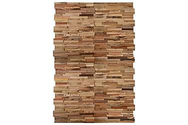 Vægbeklædningspaneler 20 stk. teaktræ 2 m²