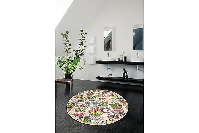 Chilai Home Bademåtte 100 Rund - Multifarvet - Boligtilbehør - Tekstiler - Badeværelsestekstiler