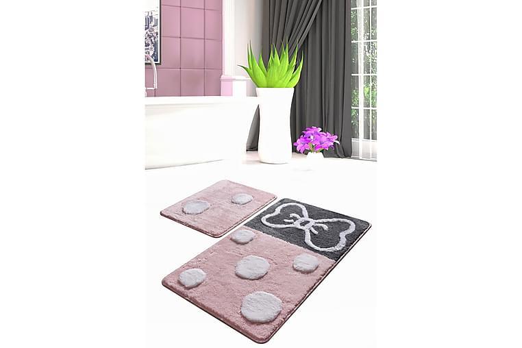 Chilai Home Bademåtte Sæt med 2 - Multifarvet - Boligtilbehør - Tekstiler - Badeværelsestekstiler