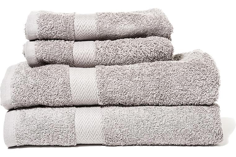 Queen Anne Frotté Håndklæde - 50x30cm Grå - Boligtilbehør - Tekstiler - Badeværelsestekstiler