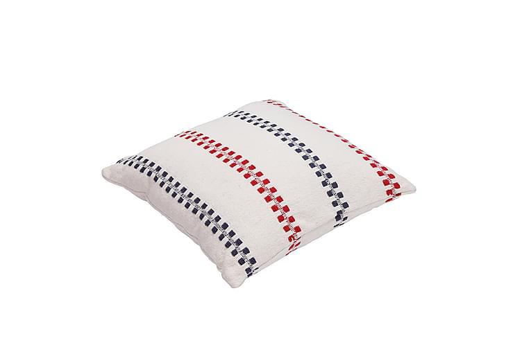 Pudebetræk Fisherman 45x45 hvid / marineblå / rød - Boligtilbehør - Tekstiler - Pudebetræk
