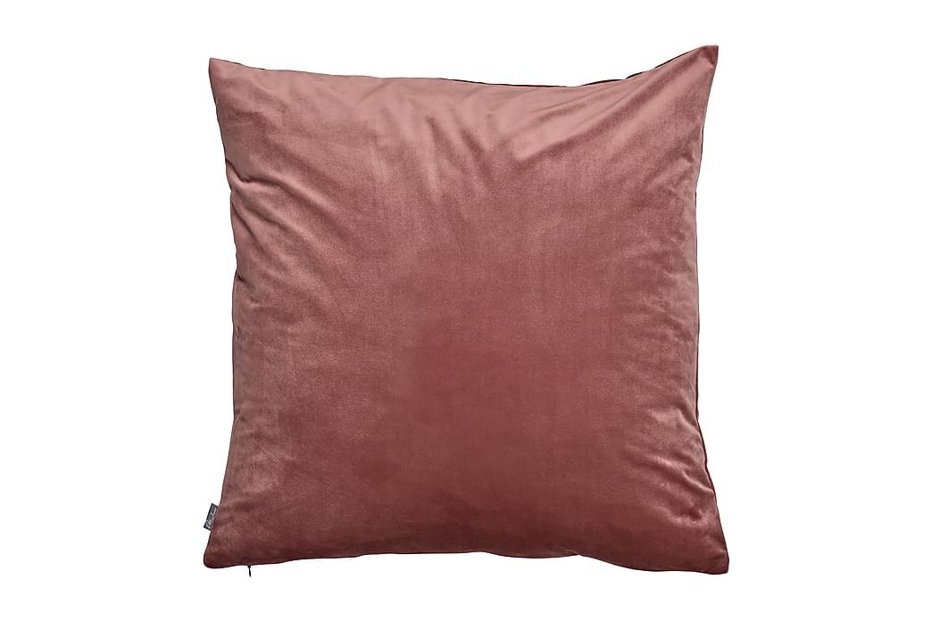 Saana Pudebetræk 60x60 cm Velour - Mørkerosa - Boligtilbehør - Tekstiler - Pudebetræk