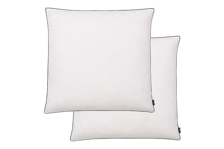 puder 2 stk. dun-/fjerfyld let 80 x 80 cm hvid - Hvid - Boligtilbehør - Tekstiler - Pyntepuder