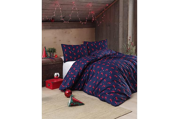 EnLora Home Ranforce Sengesæt - Blå - Boligtilbehør - Tekstiler - Sengetøj