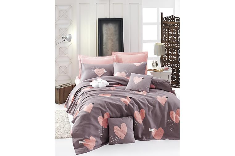 EnLora Home Sengetæppe - Lyserød - Boligtilbehør - Tekstiler - Sengetøj