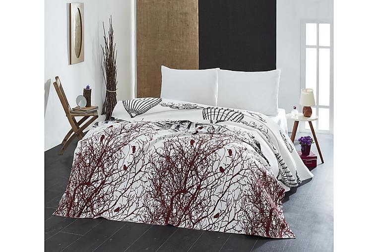 Eponj Home Sengetæppe Enkelt 160x235 cm - Hvid/Sort/Brun - Boligtilbehør - Tekstiler - Sengetøj