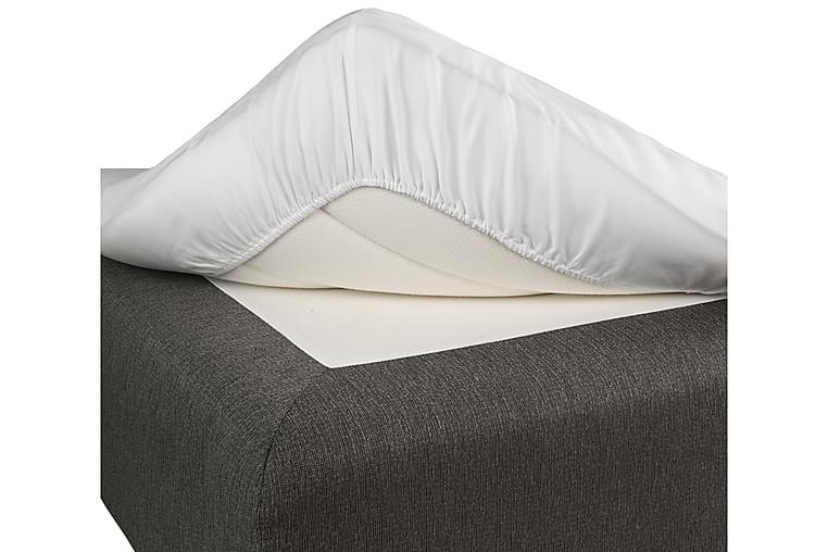 Satin Faconsyet Lagen Hvid - 90x200 cm - Boligtilbehør - Tekstiler - Sengetøj