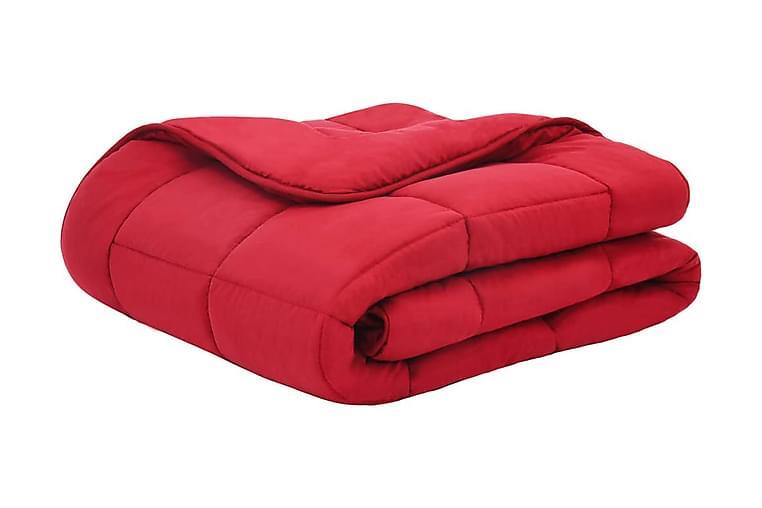 vintersengesæt 3 dele 240x220/60x70 cm stof bordeauxfarvet - Rød - Boligtilbehør - Tekstiler - Sengetøj
