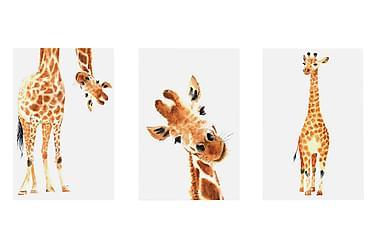 Billede Funny Girafes 3 Parts 60x30