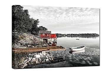 Billede i kanvas The red Hut