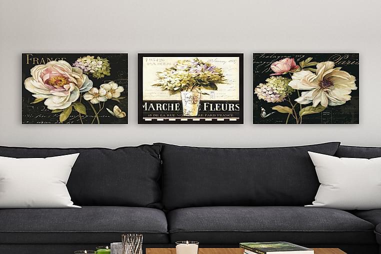 Canvas VP Italien 3 stk Flerfarvet - 33x03 cm - Boligtilbehør - Vægdekoration - Billeder på lærred