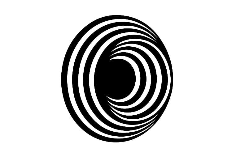 Cirkel Fototapet - Homemania - Boligtilbehør - Vægdekoration - Billeder på lærred