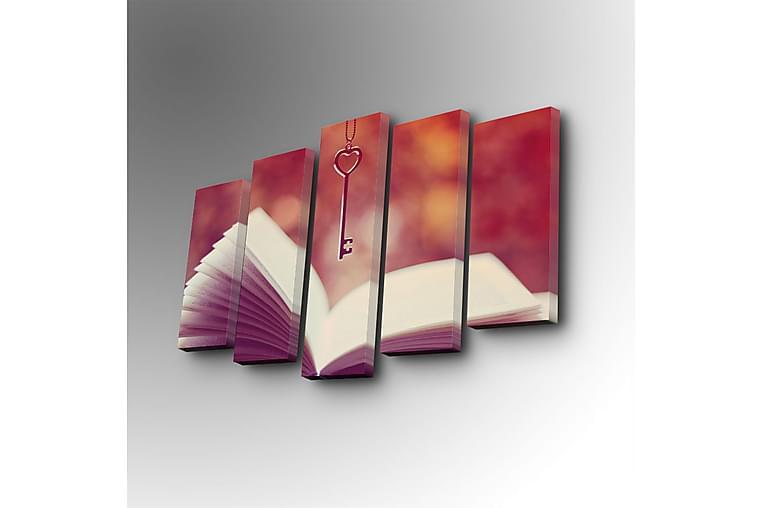 Dekorativt Canvas Maleri 5 Dele - Flerfarvet - Boligtilbehør - Vægdekoration - Billeder på lærred