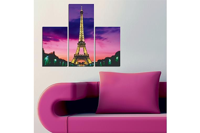 Dekorativt MDF-Maleri 3 Dele - Flerfarvet - Boligtilbehør - Vægdekoration - Billeder på lærred
