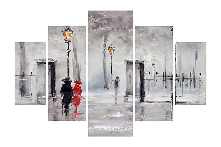 Dekorativt MDF-Maleri 5 Dele - Flerfarvet - Boligtilbehør - Vægdekoration - Billeder på lærred