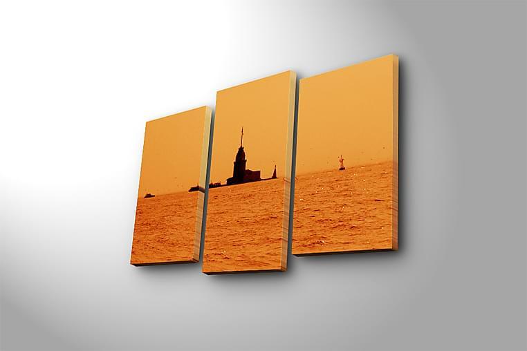 Fototapet 3 stk Flerfarvet - 22x03 cm - Boligtilbehør - Vægdekoration - Billeder på lærred