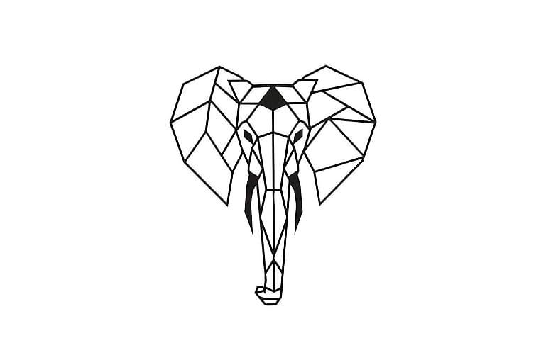 Elefant vægdekoration - Homemania - Boligtilbehør - Vægdekoration - Emaljeskilte