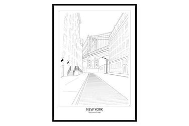 Billede Poster Street View Manhattan